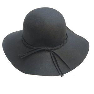 daf7862d Wide brim 100% wool twist band boho Floppy hat O/S